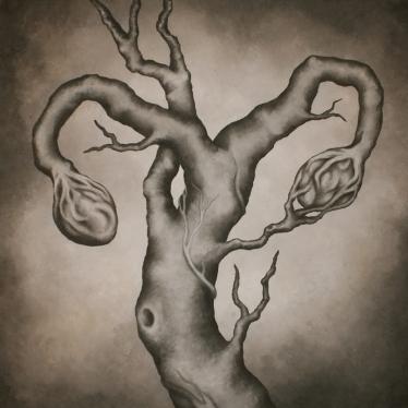 Ovarbaum, Leinwand 1x1m