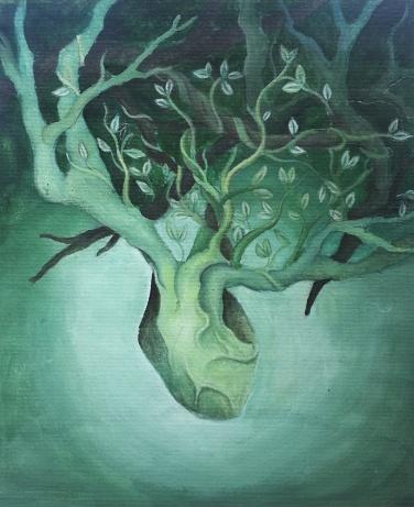 Herzbaum, grün