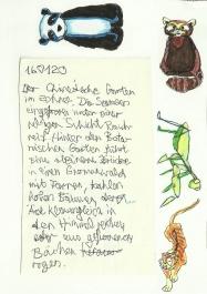 Skizzenbuch, links