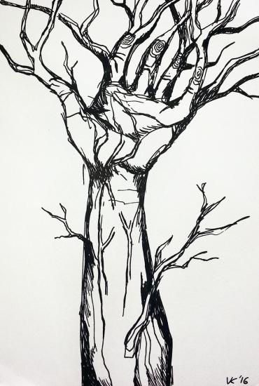 Henriks Arm - 13jähriger Baum im Wachstum