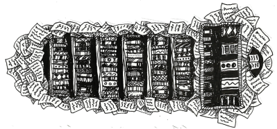 Linker Bücherwurm