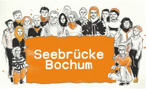 Postkarte Seebrücke Bochum